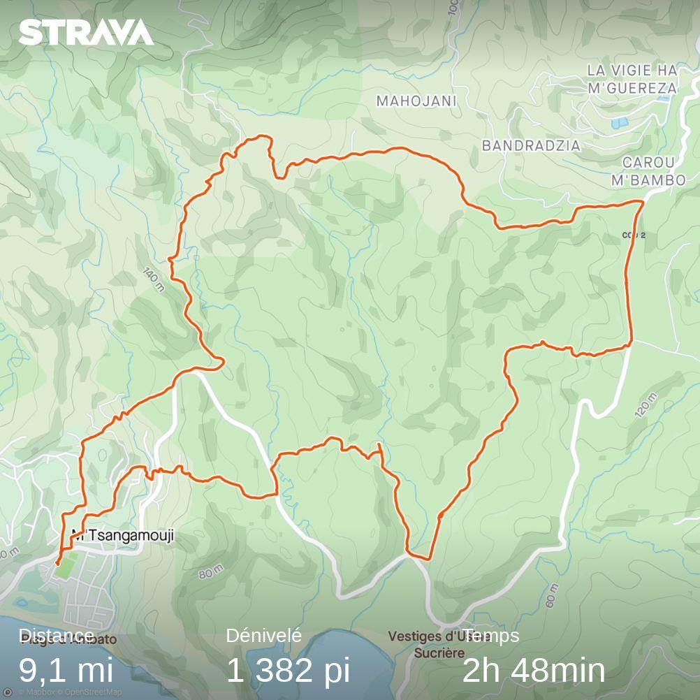 Randonnée boucle Mtsangamouji du 19_09_2021